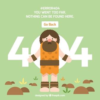 404-foutenconcept met neanderthaler