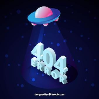 404 foutontwerp met ufo