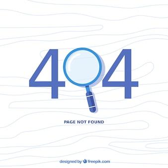 404 foutontwerp met vergrootglas