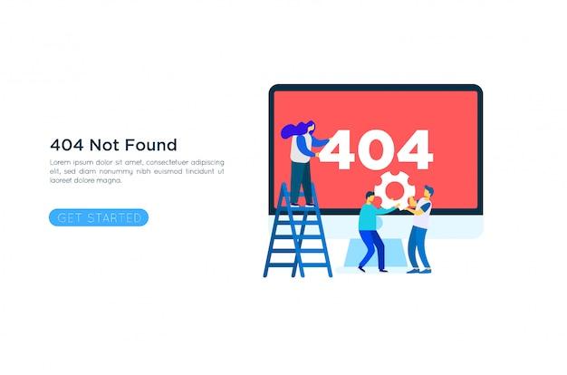 404 foutpagina illustratie concept