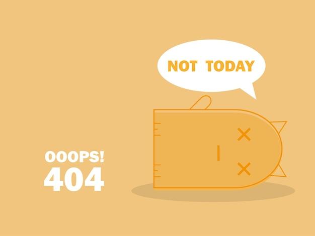 404-foutpagina met schattige slapende kat en bericht oeps pagina niet gevonden. zoek probleem alert sjabloon voor website ontwerpconcept, lijn platte vectorillustratie