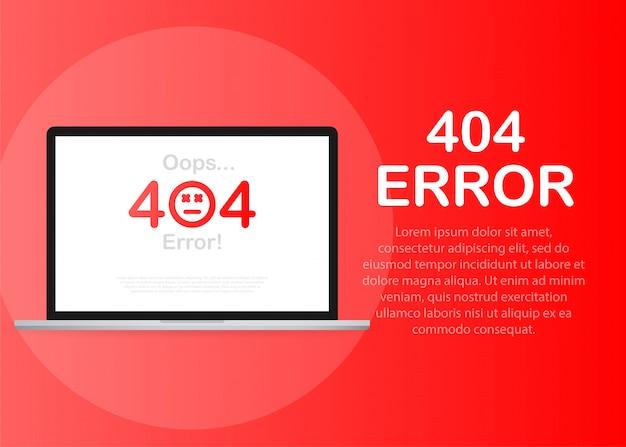 404-foutpagina niet gevonden geïsoleerd in rood
