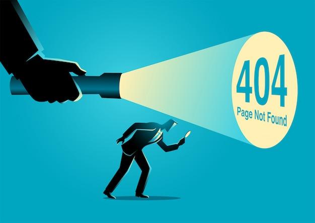 404-foutpagina niet gevonden teken