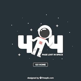 404-foutsjabloon met astronaut in vlakke stijl