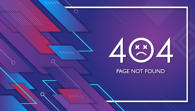 404 geometrische pagina werkt niet fout verloren niet gevonden 404 teken probleem landing vector ontwerp