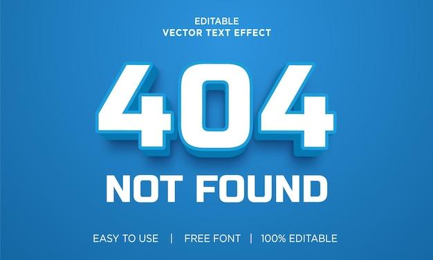 404 niet gevonden bewerkbaar teksteffect met premium vector