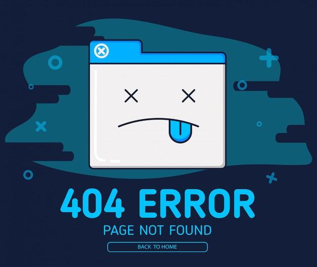 404 tabblad cartoon