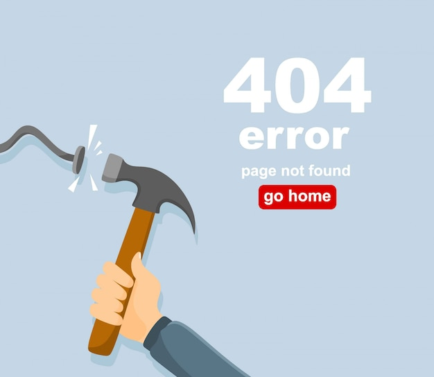 404-verbindingsfout. abstracte achtergrond met draad plug en socket. sorry, pagina niet gevonden.