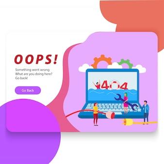 404 web niet gevonden illustratie