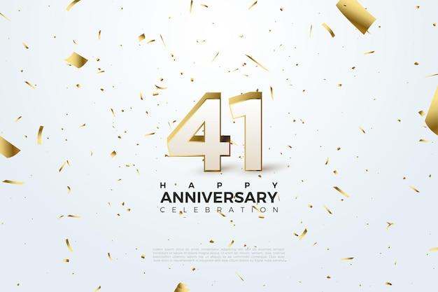 41e verjaardag, feestsjabloon