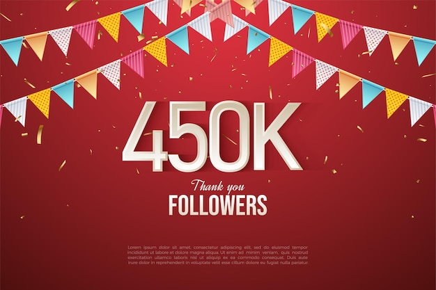 450.000 volgers met kleurrijke cijfers en vlaggen