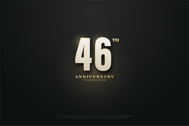 46-jarig jubileumfeest met lichtgevende cijfers