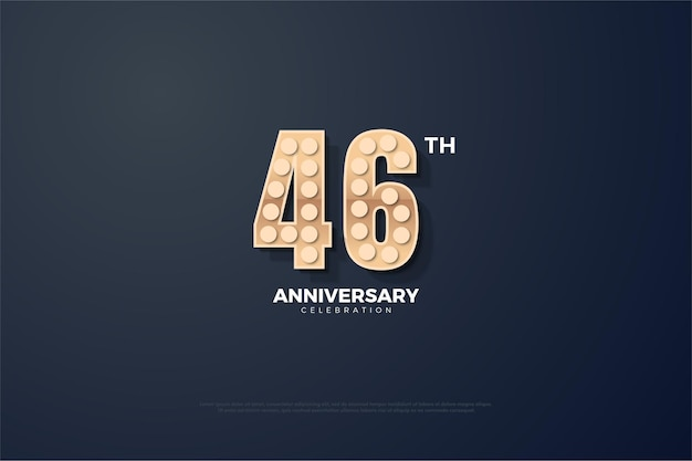 46-jarig jubileumfeest met verlichte bolnummers