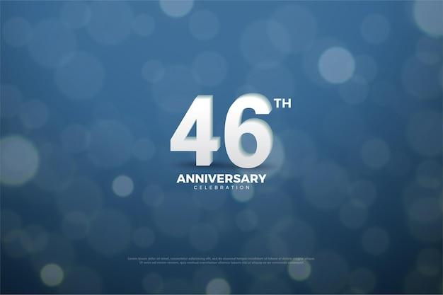 46e verjaardagsviering met bubleachtergrond