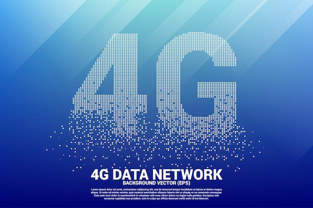 4g mobiel netwerken vanaf kleine vierkante pixel.