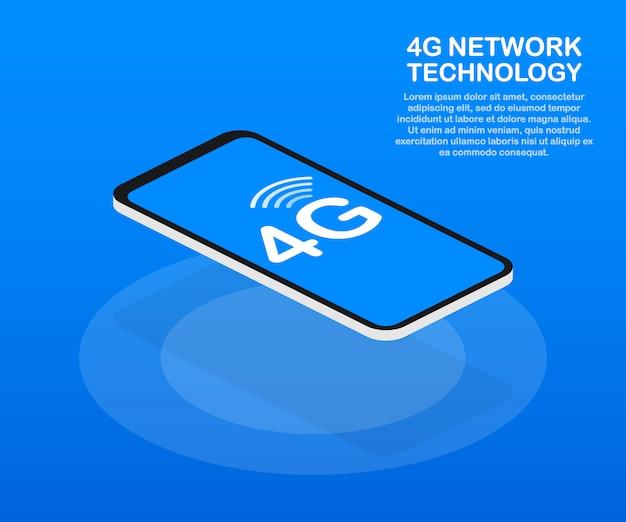 4g-netwerk draadloze systemen en internet. communicatie netwerk. .
