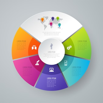 5 stappen bedrijfs infographic elementen voor de presentatie