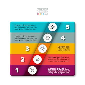 5 stappen van infographic.