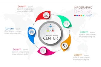 5 stappen zakelijke infographic