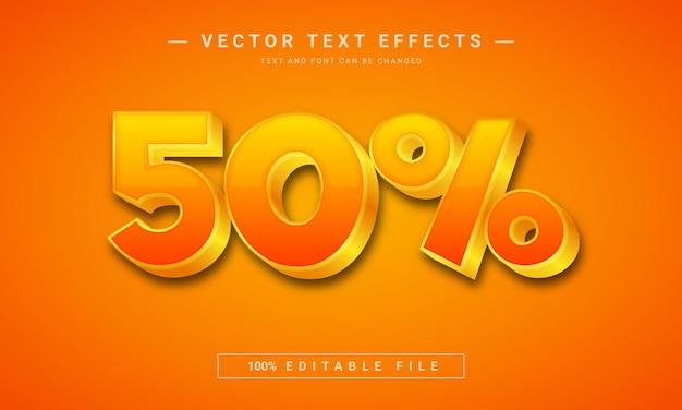 50 aanbieding teksteffectsjabloon