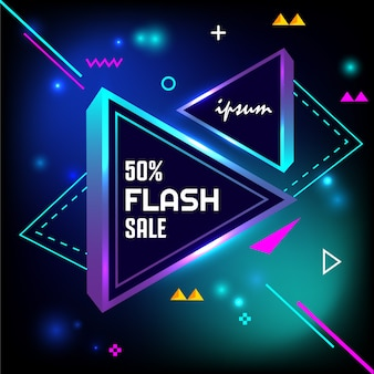 50% flash-verkooplampje