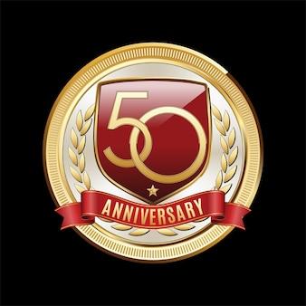 50 jaar verjaardag embleem illustratie