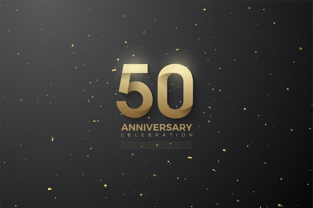 50-jarig jubileum met patroonnummers