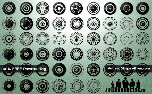 50 + vector circles | all silhouetten