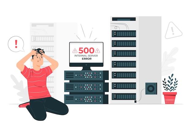 500 interne serverfout concept illustratie