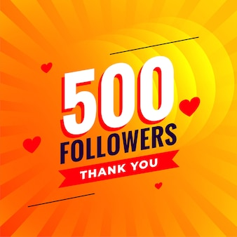 500 volgers sociale media netwerkachtergrond