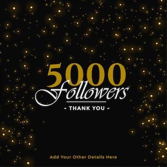 5000 volgers banner