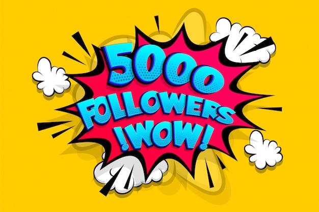 5000 volgers bedankt voor media zoals