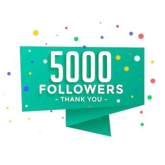 5000 volgers op sociale media bedankt postsjabloon