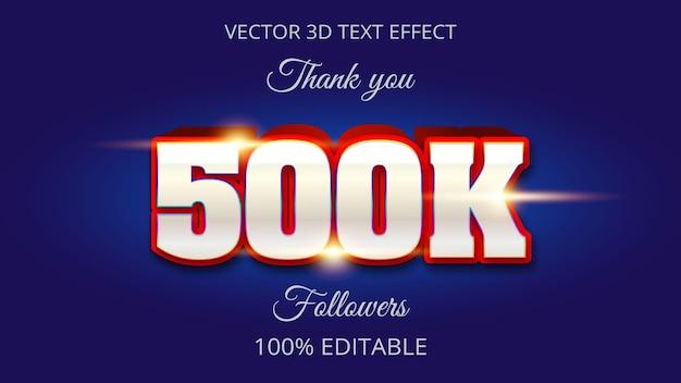 500k 3d-teksteffect