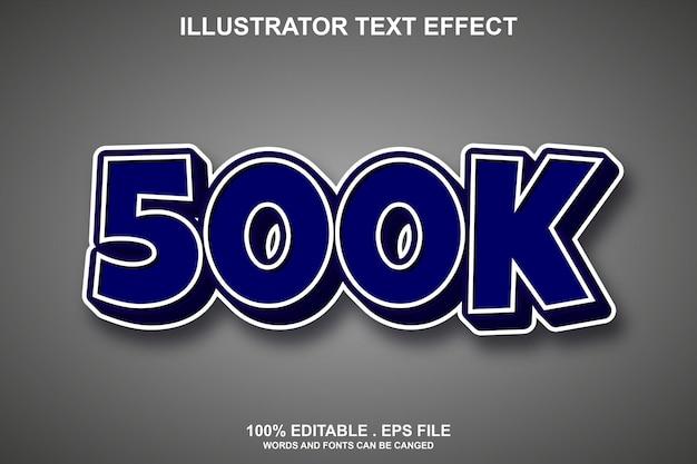 500k teksteffect bewerkbaar