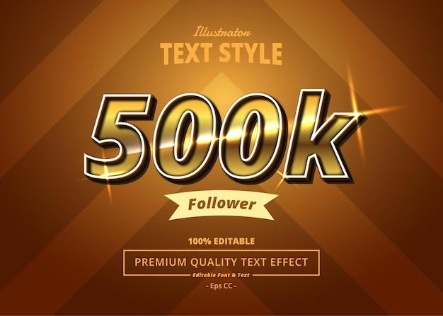 500k volger illustrator-teksteffect