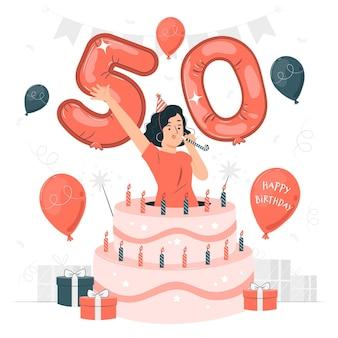 50e verjaardag concept illustratie