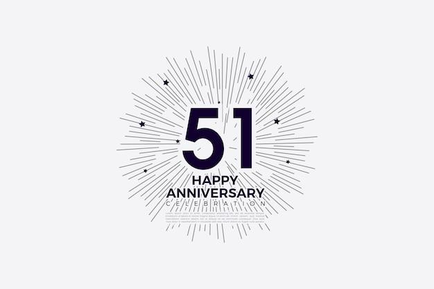 51e verjaardag met een modern design