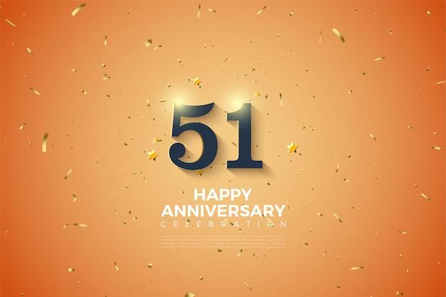 51e verjaardag met een stralende