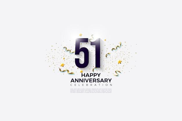 51e verjaardag met feestelijk plezier