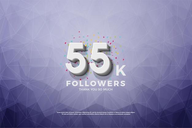 55k volgers met nummer