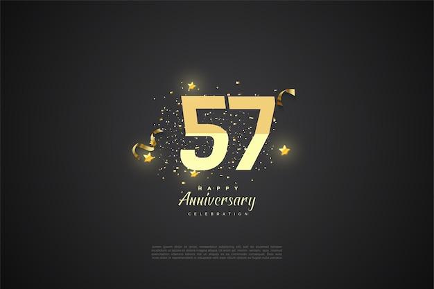57e verjaardag achtergrond afbeelding