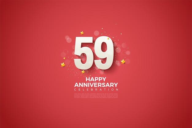 59e verjaardag met een eenvoudig en luxueus ontwerp