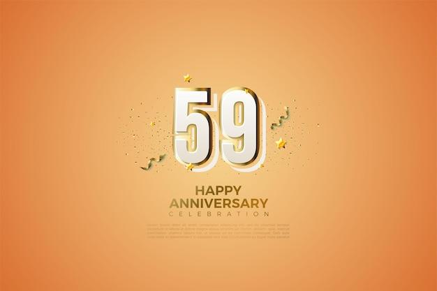 59e verjaardag met modern numeriek ontwerp