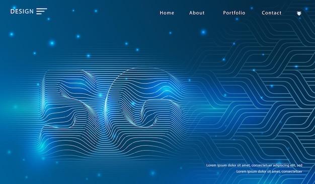 5g abstracte technische achtergrond. cybertechnologie.