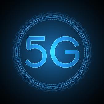 5g achtergrond van het technologie de abstracte symbool