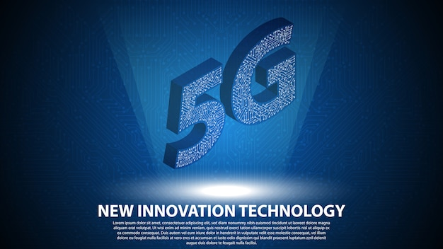 5g achtergrond van nieuwe innovatietechnologie
