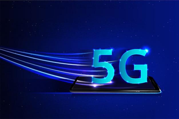5g cellulaire netwerk concept achtergrond