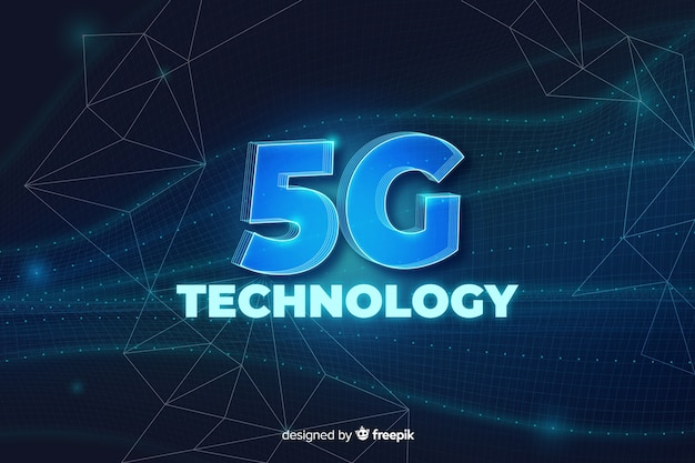 5g concept belettering achtergrond
