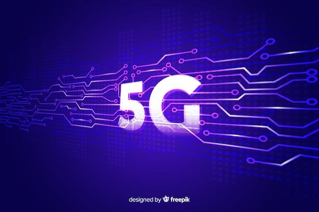 5g concept violette achtergrond